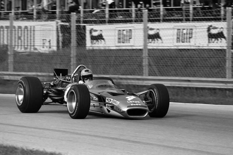 Jochen RIndt in his Lotus at the 1969 Italian Grand Prix