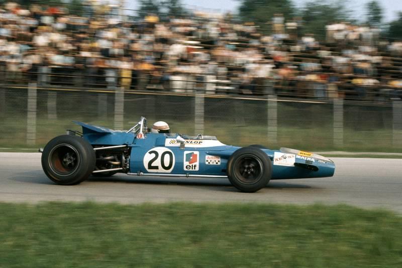 Jackie Stewart in his Matra at the 1969 Italian Grand Prix