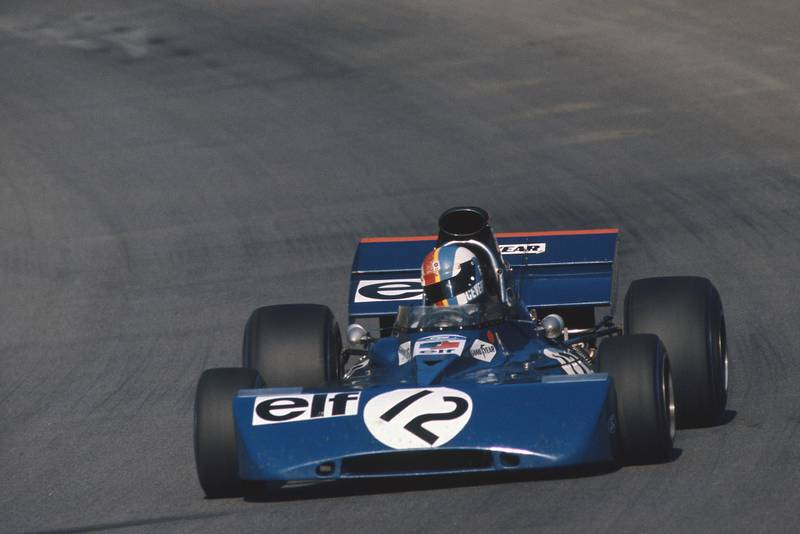 Francois Cevert in his Tyrrell at the 1971 Austrian Grand Prix.