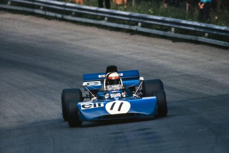 Jackie Stewart piloting his Tyrrell at the 1971 Austrian Grand Prix.