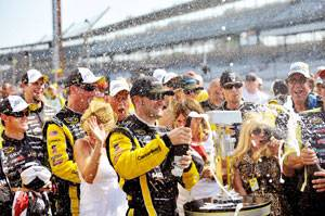 Menard wins at Indy