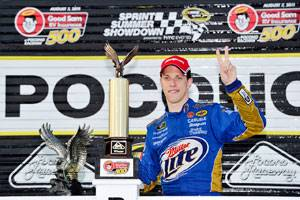 Keselowski shows courage