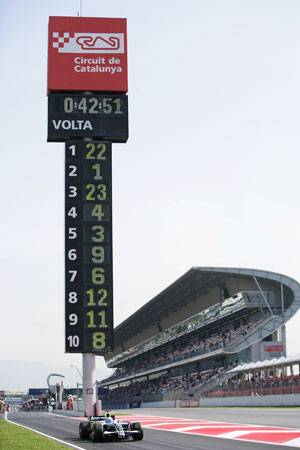 Grand Prix Special, Spain – Practice, Full Results
