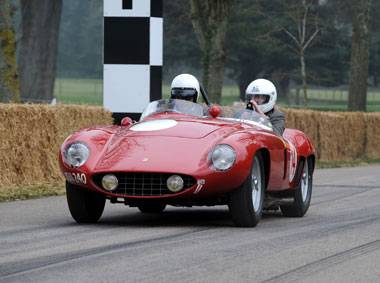 'Racing' up the Goodwood hill