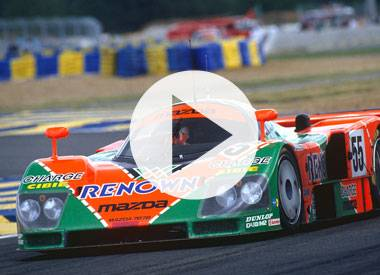Johnny Herbert and the Mazda 787B