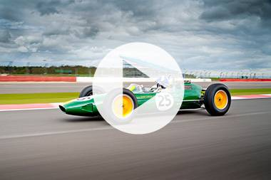Coulthard drives Clark's Lotus 25