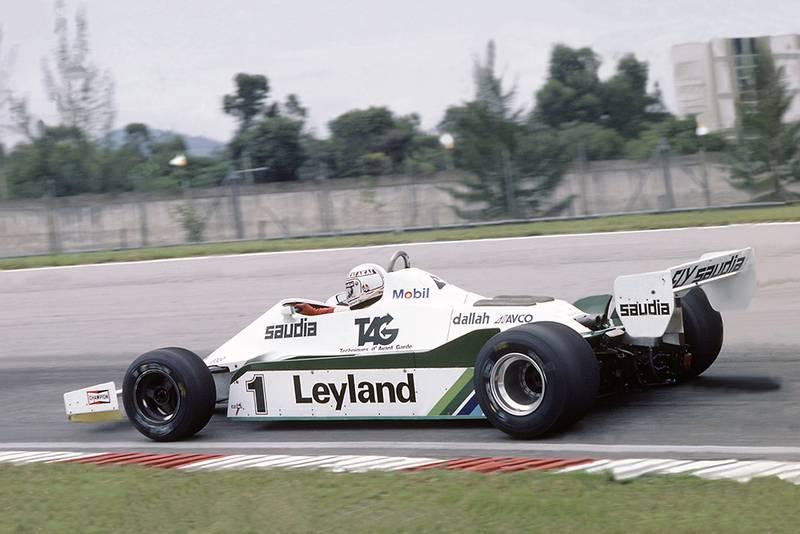 Alan Jones in a Williams FW07C-Ford Cosworth.