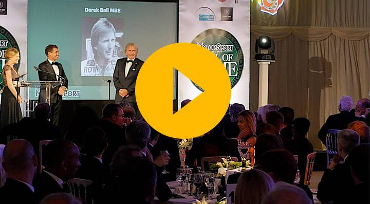 Derek Bell inducted into the Motor Sport Hall of Fame