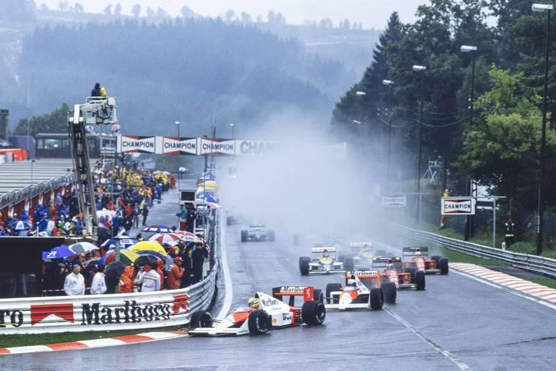 1989 BEL GP start