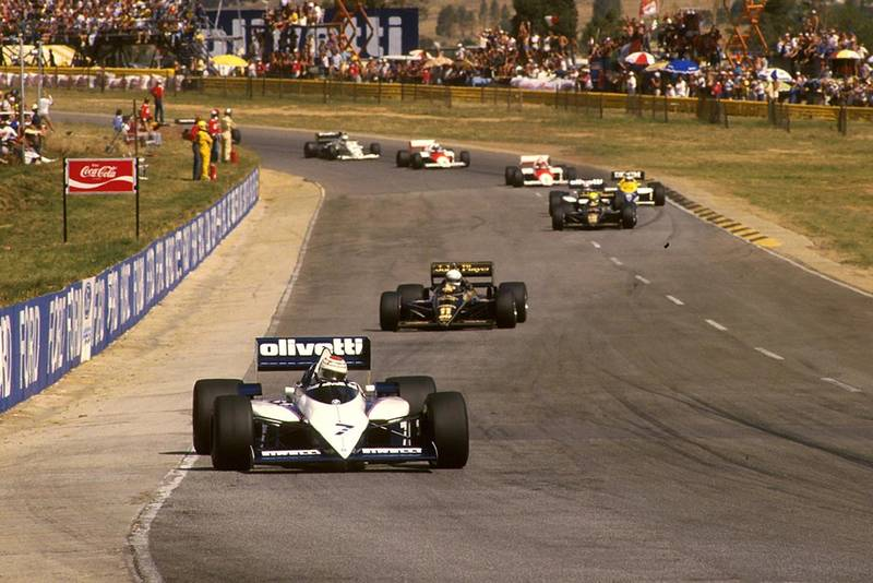 Nelson Piquet ;had the pack in his Brabham BT54.