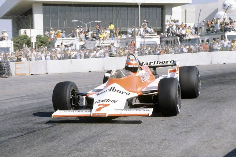 John Watson in a McLaren M29C-Ford Cosworth.