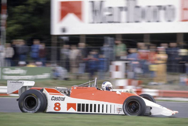 Alain Prost in a McLaren M29C-Ford Cosworth.