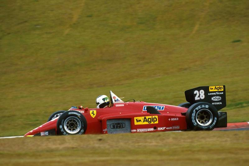 Stefan Johansson in his Ferrari 156/85.