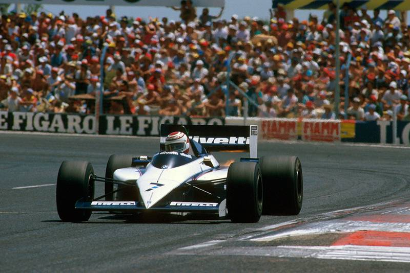 Nelson Piquet at the wheel of his Brabham BT54 BMW.