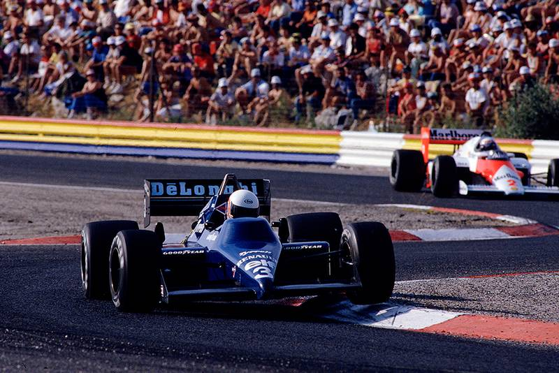 Martin Brundle in his Tyrrell 014 Renault.