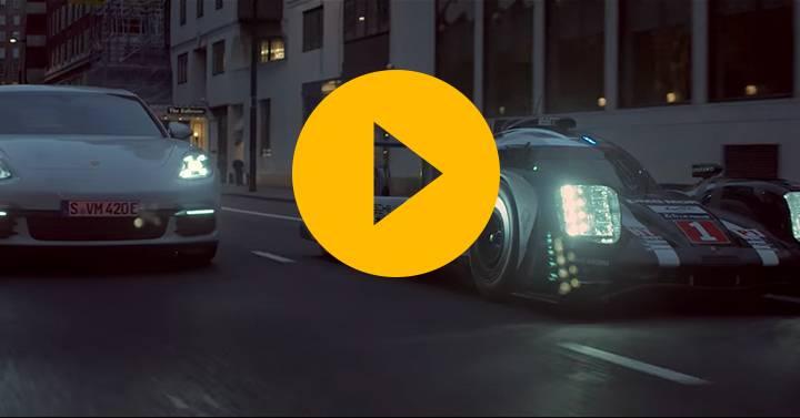 Watch: Porsche 919 meets Panamera in London