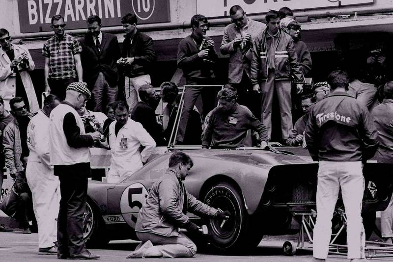 Le Mans, France. 17-18 June 1966. Ronnie Bucknum/Dick Hutcherson (Ford GT40 Mk2) oits.