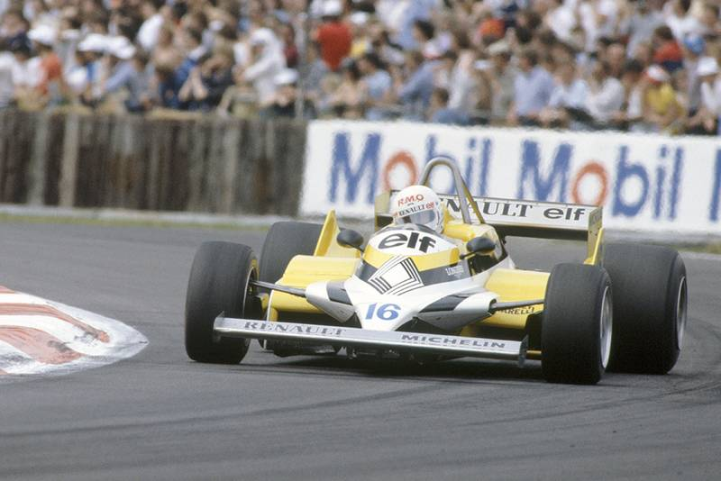 Rene Arnoux in his Renault RE30.