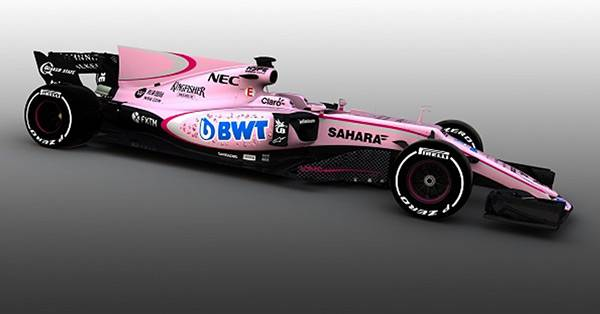 Force India turns pink – but we've seen it before