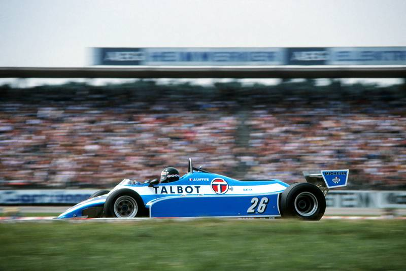 Jacques Laffite in his Ligier JS17, finished third.