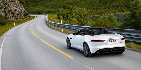 The four-cylinder Jaguar sports car