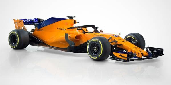 McLaren MCL33 F1 car breaks cover
