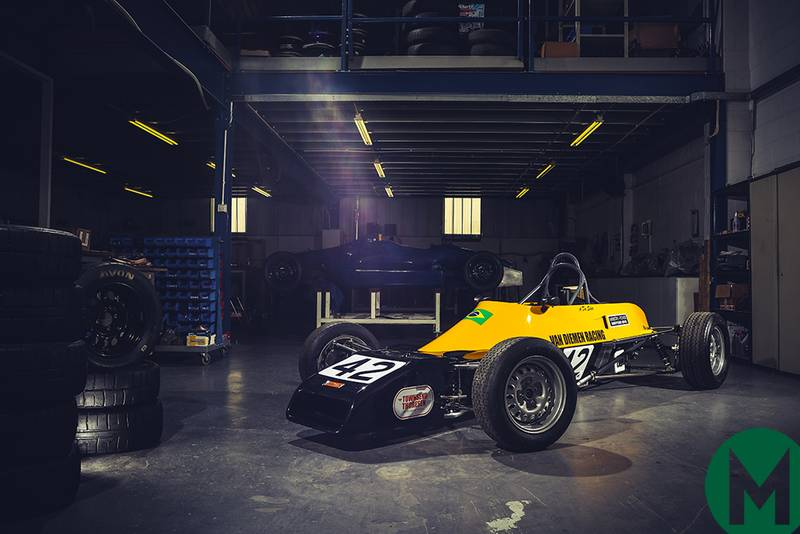 Senna's first racing car at Race Retro