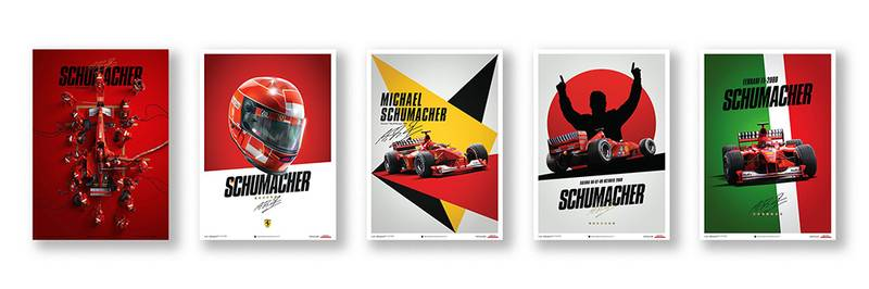 These prints mark Schumacher's first Ferrari title