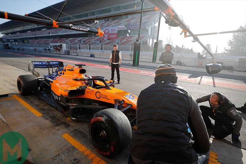 Sainz puts McLaren on top again in second F1 test