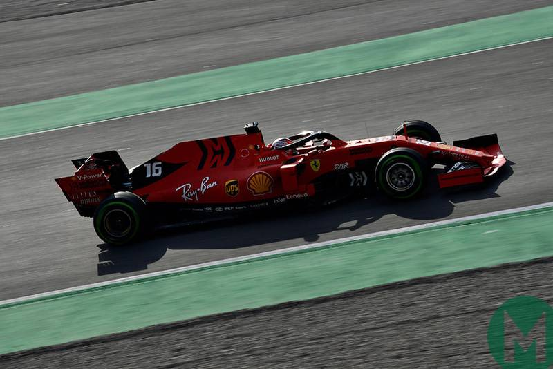 Leclerc fastest for Ferrari on F1 testing day 2