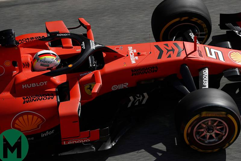 Vettel and Ferrari dominate day 1 of F1 testing