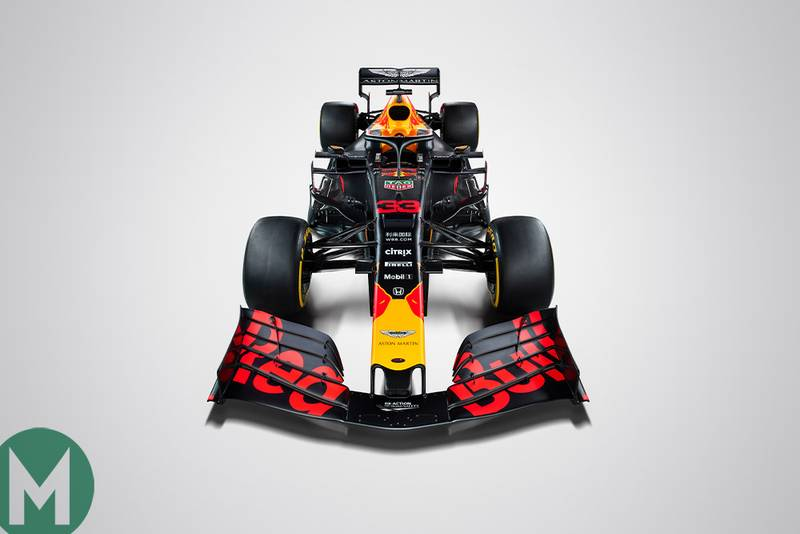Red Bull unveils livery on morning of F1 testing