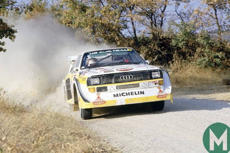 Watch Walter Röhrl wrestle the Group B Quattro