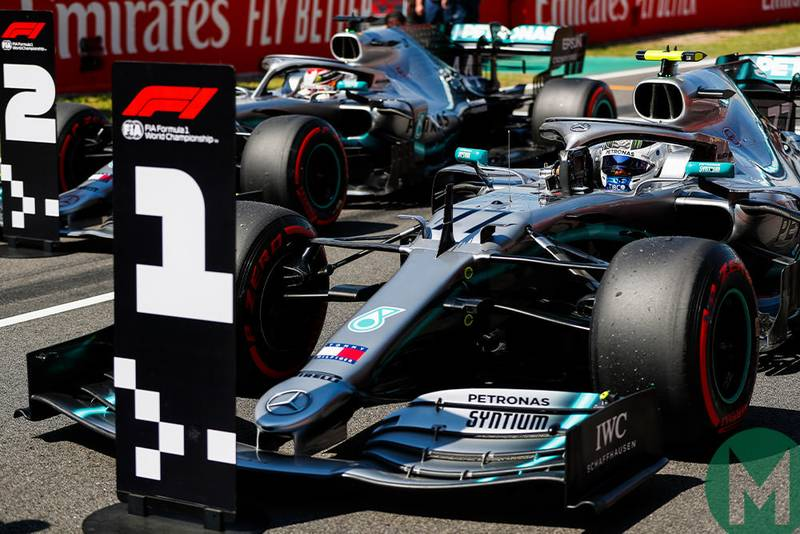 Mercedes 1-2 finishes: just like the '50s