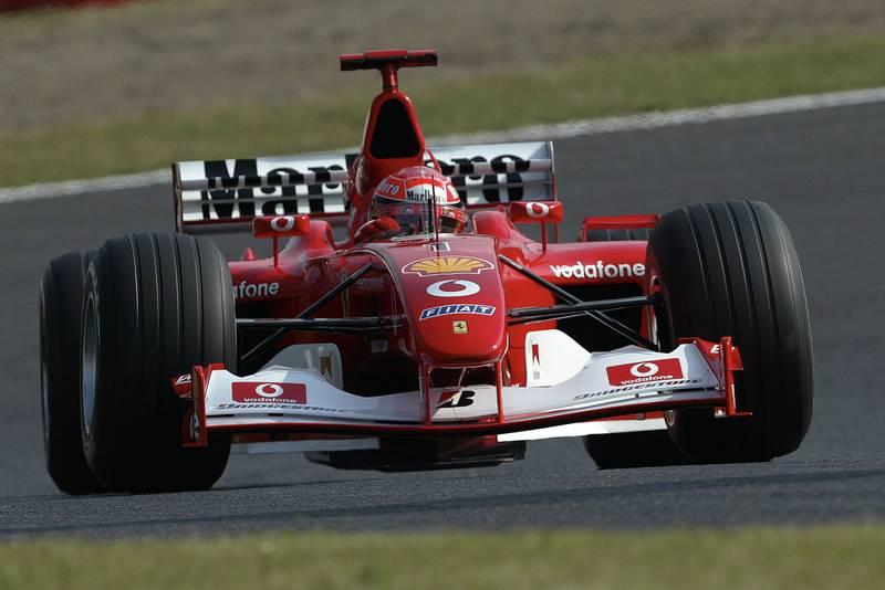 Michael Schumacher in the Ferrari F2002 during the 2002 Japanese Grand Prix