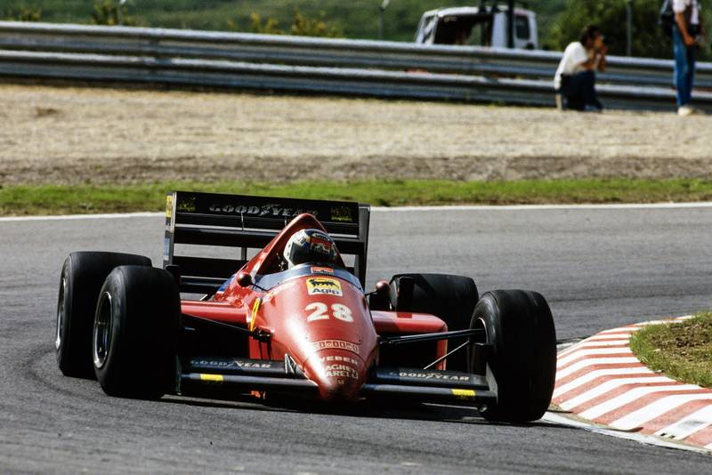 Stefan Johansson in the 1986 Portuguese Grand Prix