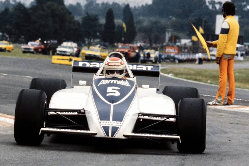Nelson Piquet in the Brabham BT49C at the 1981 Argentinian Grand Prix