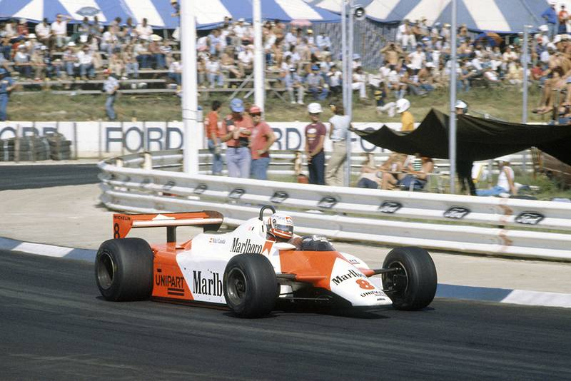 Niki Lauda in his McLaren MP4/1B-Ford Cosworth).
