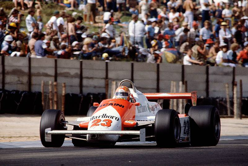 Bruno Giacomelli in his Alfa Romeo 179D.