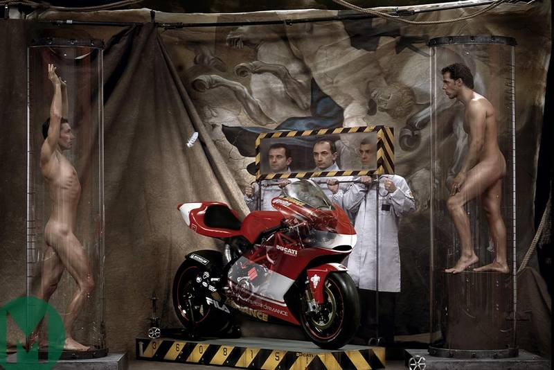 Take two naked MotoGP riders… Ducati's curious 2003 photo shoot, starring Bayliss and Capirossi