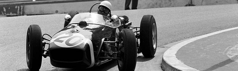 Stirling Moss in his Lotus during the 1961 Monaco Grand Prix