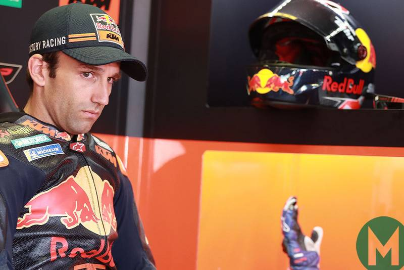 Johan Zarco in the KTM garage