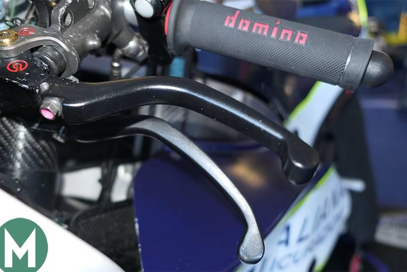 Karel Abraham's finger operated brake system