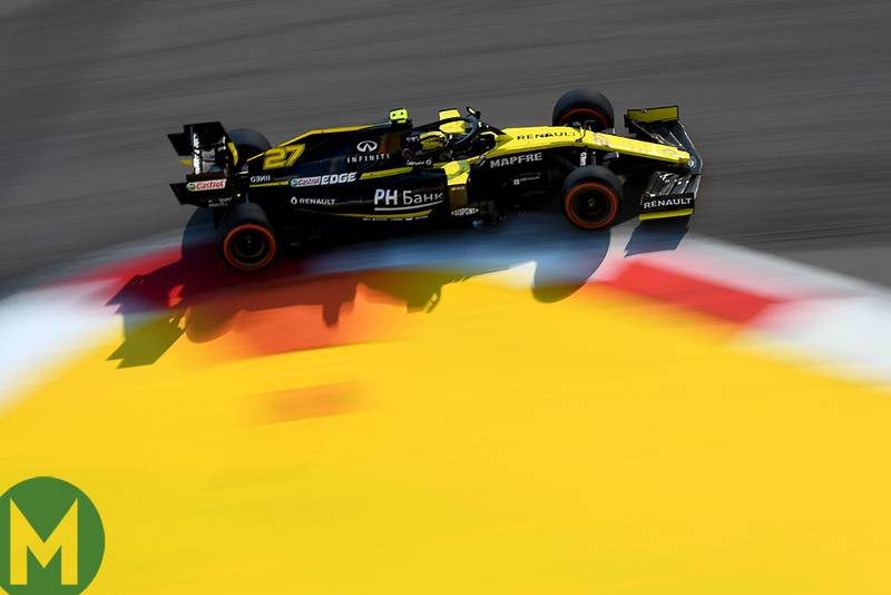 Nico Hulkenberg during qualifying for the 2019 F1 Russian Grand Prix