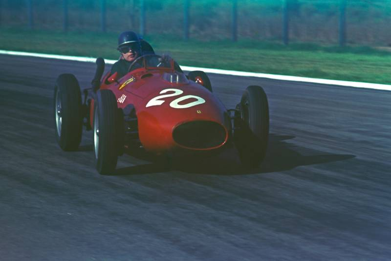 Mike Hawthorn driving his Ferrari in 1958