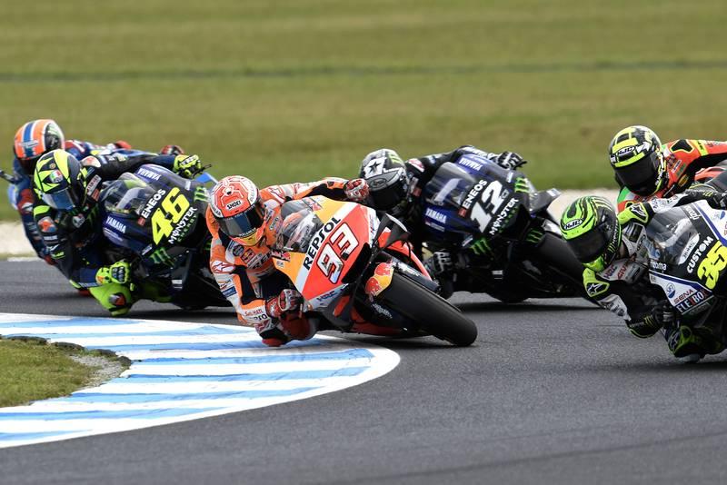 Marc Márquez during MotoGP's Australian Grand Prix
