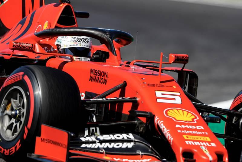 Sebastian Vettel during qualifying for the 2019 Japanese Grand Prix