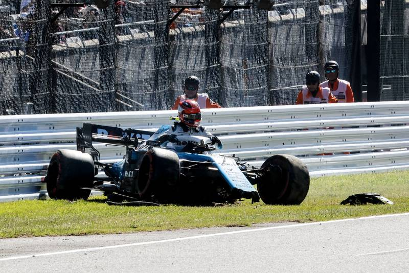 Robert Kubica crashes in qualifying for the 2019 f1 Japanese Grand Prix