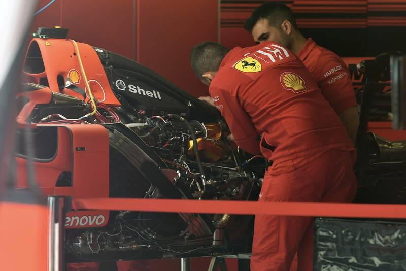 Ferrrai SF90 engine bay at the 2019 Spanish Grand Prix