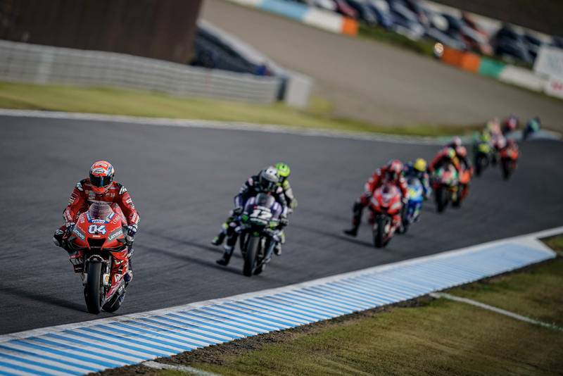 Andrea Dovizioso during the 2019 Motegi MotoGP race